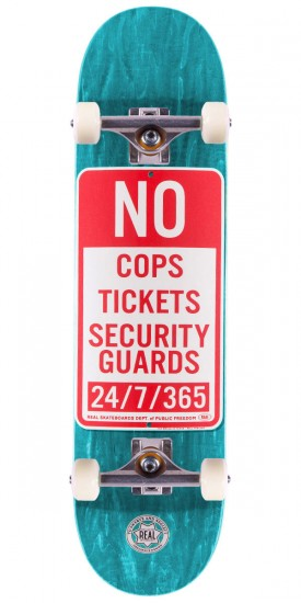 "Real Enforcement Prohibited Skateboard Complete - 8.06"" - Teal Stain"