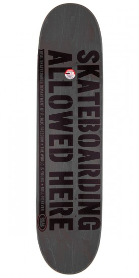 """Real Enforcement Prohibited Skateboard Deck - 8.5"""" - Teal Stain"""