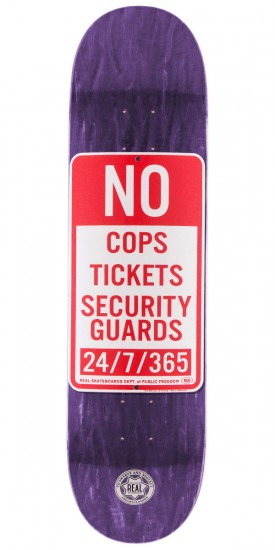"Real Enforcement Prohibited Skateboard Deck - 8.25"" - Purple Stain"