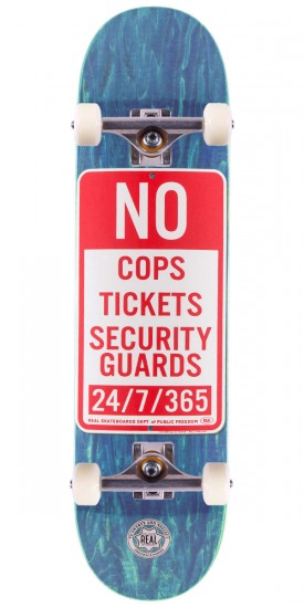 """Real Enforcement Prohibited Skateboard Complete - 8.5"""" - Blue Stain"""
