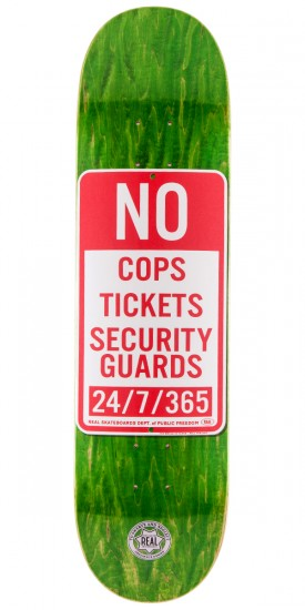 Real Enforcement Prohibited Skateboard Deck - Green Stain