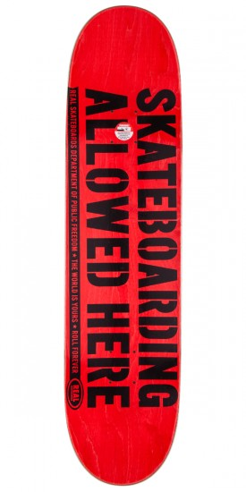 """Real Enforcement Prohibited Skateboard Deck - 8.5"""" - Green Stain"""