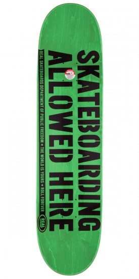 """Real Enforcement Prohibited Skateboard Deck - 8.5"""" - Yellow Stain"""