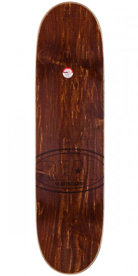 Real Hot Ovals Skateboard Complete - Brown Stain - 8.5""