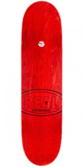 """Real Hot Ovals Skateboard Deck - Red Stain - 8.5"""""""