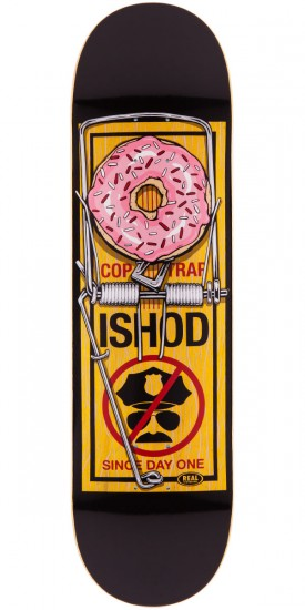 Real Ishod Wair Bust Control Skateboard Deck - Yellow - 8.38""