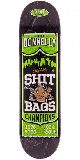 Real Jake Donnelly Champions Skateboard Deck - Black Stain - 8.18""