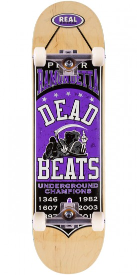 """Real Ramondetta Champions Skateboard Complete - 8.38"""" - Natural Stain"""