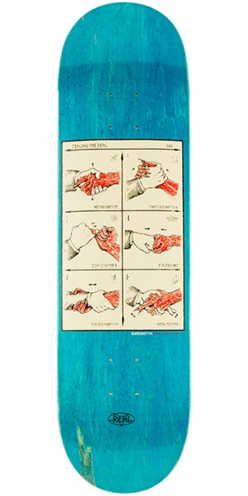 "Real Ramondetta Seal the Deal Skateboard Deck - 8.38"" - Blue Stain"