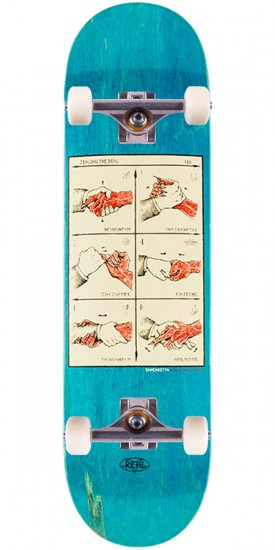 """Real Ramondetta Seal the Deal Skateboard Complete - 8.38"""" - Blue Stain"""