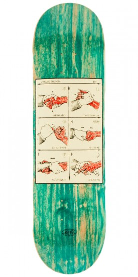 """Real Ramondetta Seal the Deal Skateboard Deck - 8.38"""" - Teal Stain"""