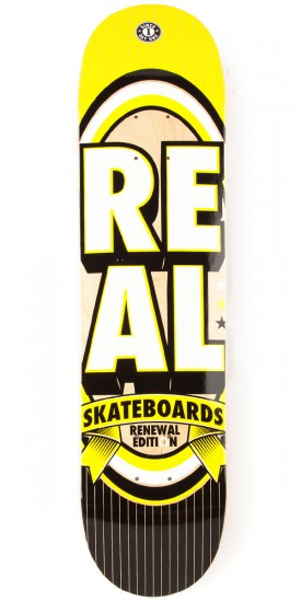 Real Renewal Stacked SM Skateboard Deck - 7.56""