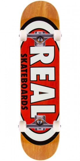 Real Team Wood Oval Mini Skateboard Complete - 7.21""