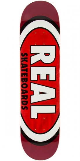 Real Team Wood Oval Skateboard Deck - 7.81""