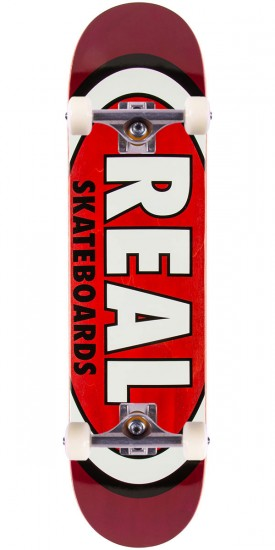 Real Team Wood Oval Skateboard Complete - 7.81""