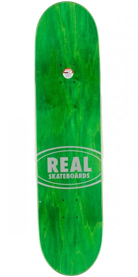 Real Team Wood Oval Skateboard Complete - 8.06""
