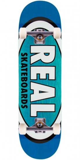 Real Team Wood Oval Skateboard Complete - 8.5""