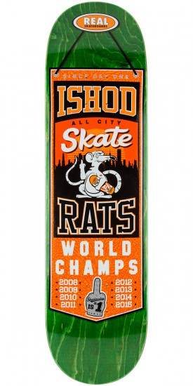 "Real Wair Champions Skateboard Deck - 8.25"" - Green Stain"