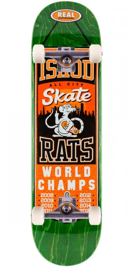 "Real Wair Champions Skateboard Complete - 8.25"" - Green Stain"