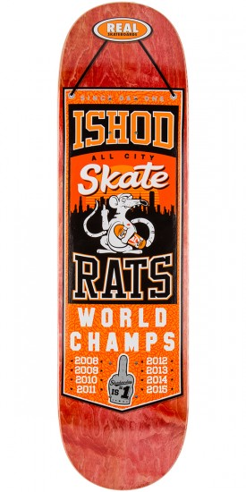 "Real Wair Champions Skateboard Deck - 8.25"" - Red Stain"