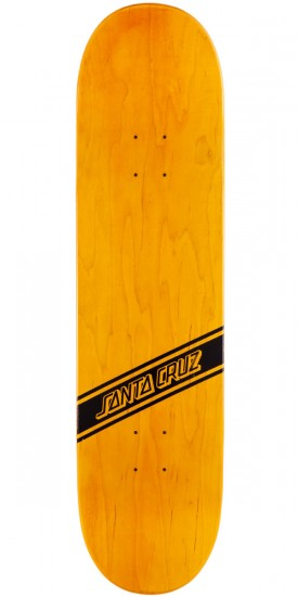Santa Cruz Black Strip Skateboard Deck - 8.30""