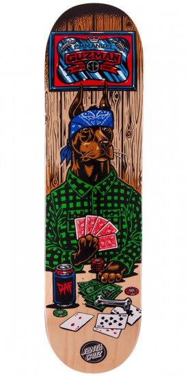 Santa Cruz Guzman Poker Dog Skateboard Deck - 8.2""