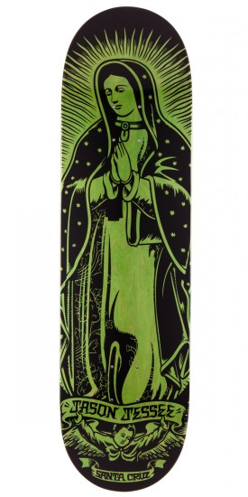 "Santa Cruz Jessee Guadalupe Eight Five Skateboard Deck - 8.5"" - Green"