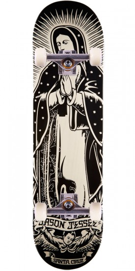 Santa Cruz Jessee Guadalupe Eight Two White Wash Skateboard Complete - 8.20""
