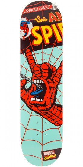 Santa Cruz Marvel Spiderman Hand Skateboard Deck - 8.0""