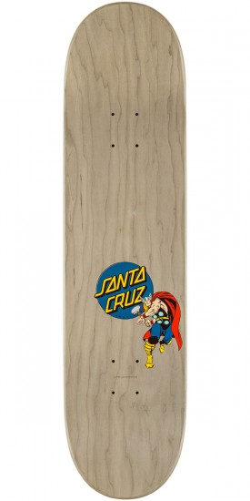 Santa Cruz Marvel Thor Hand Skateboard Deck - 8.25""