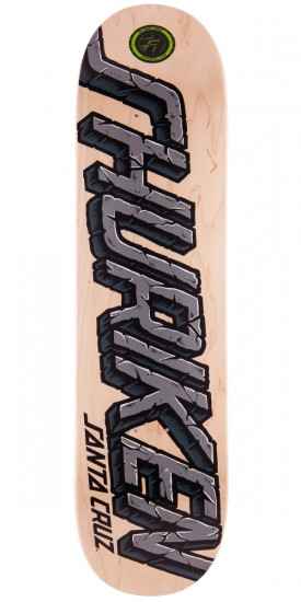 Santa Cruz Shuriken Stone Strip P2 Skateboard Deck - 8.1""
