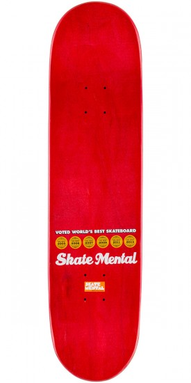 Skate Mental Plunkett Denied Skateboard Deck - Pink - 8.125""
