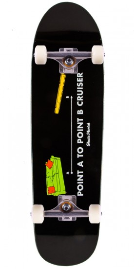 """Skate Mental Point A to Point B Cruiser Skateboard Complete - 8.5"""""""