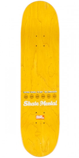 Skate Mental SF Pizza Map Skateboard Deck - 8.125""