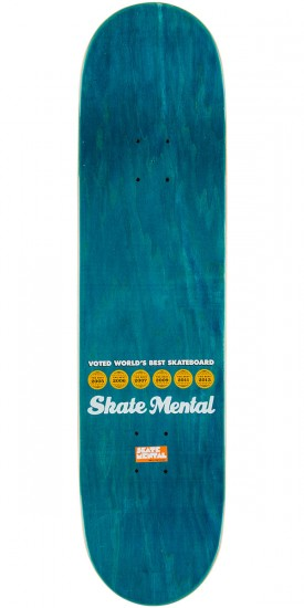 Skate Mental Text Bubble Skateboard Deck - 8.25""
