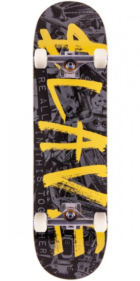 Slave All Together Skateboard Complete - Black/Yellow - 8.25""