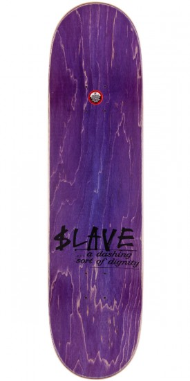 Slave All Together Skateboard Deck - Black/Yellow - 8.25""