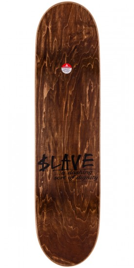 Slave All Together Skateboard Deck - Silver/Gray - 8.125""