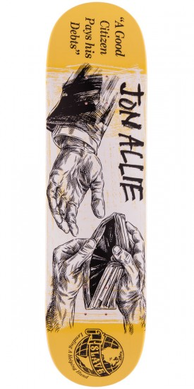 Slave Allie Helping Hand Skateboard Deck - 8.125""