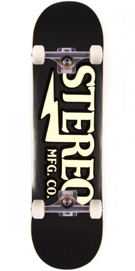 "Stereo Amplified Skateboard Complete - 8.5"" - Black"