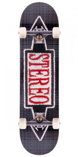 """Stereo Stitched Black Skateboard Complete - 8.0"""""""