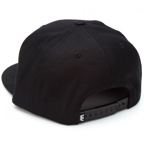 Supra Icon Snap Hat - Black/Black