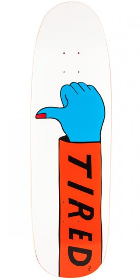 Tired Thumbs Down on Sigar Skateboard Deck - 9.25""