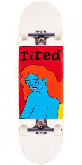 Tired Women's Face on Joel Skateboard Complete - 8.625""