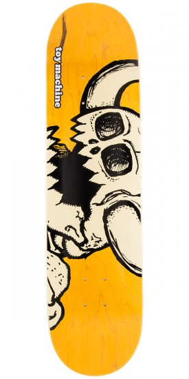 Toy Machine Dead Vice Monster Skateboard Deck - Yellow - 8.25""