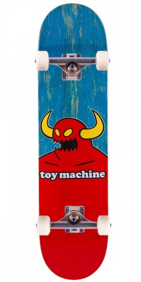 """Toy Machine Monster Skateboard Complete - Blue Stain - 7.75"""""""