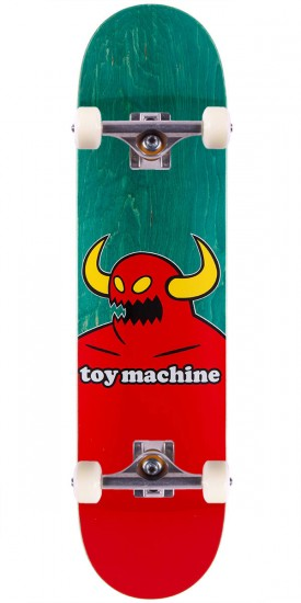"""Toy Machine Monster Skateboard Complete - Green Stain - 7.75"""""""