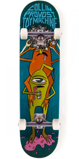 Toy Machine Provost Beer Guzzler Skateboard Complete - 8.125 - Teal Stain