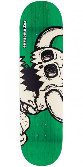 Toy Machine Vice Dead Monster Skateboard Deck - Green Stain