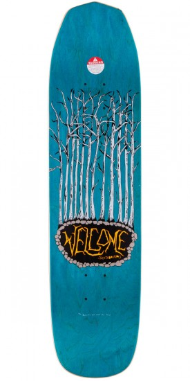 "Welcome Raw Power On Vimana Skateboard Deck - 8.25"" - Black/White"